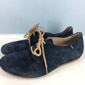 New Benvado Navy Blue Suede Leather oxford 6